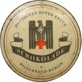 Chocolate tin for the German Red Cross of the Third Reich