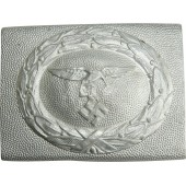 Early Luftwaffe aluminum buckle with drop tail eagle