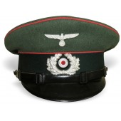 Early visor cap for the lower ranks of the armored troops of the Wehrmacht