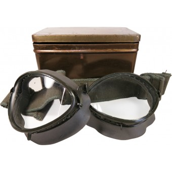 German dispatch rider's goggles of the Wehrmacht or Waffen-SS. Mint.. Espenlaub militaria