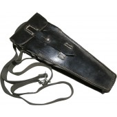 WW2 German black leather  K98/StG -44 Grenade Launcher Pouch - Gewehrgranatgerät