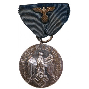Medal for 4 years of faithful service in the Wehrmacht. Non magnetic metal. Espenlaub militaria