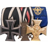 Ordensspange for an Police officer in the Third Reich, a WWI veteran