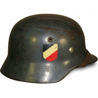 ET 62 double decal Luftwaffe early steel helmet. Espenlaub militaria