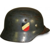 ET 62 double decal Luftwaffe early steel helmet