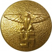 Gold political leader's button, M 5/249 RZM or M5/76 RZM, 25 mm