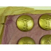 Gold political leader's buttons, M5/71 RZM, 20 mm