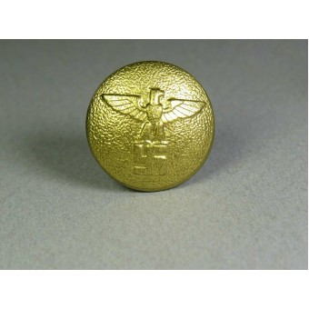 Gold political leaders belt support button, medium size. Espenlaub militaria