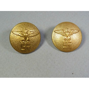 Gold political leaders button, M 5/249 RZM or M5/76 RZM, 25 mm. Espenlaub militaria
