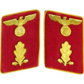 High ranking collar tabs in mint condition for Political leader in NSDAP