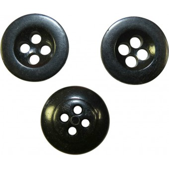 Medium size button for trousers and Panzer tunics, black. 17 mm. Espenlaub militaria