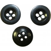 Medium size button for trousers and Panzer tunics, black. 17 mm