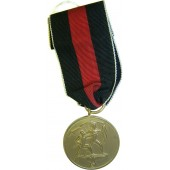 Medal for annexation of Czechoslovakia