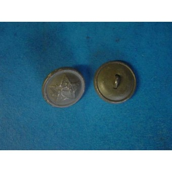 WW2 18 mm late war aluminum field button for shoulder straps
