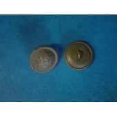 WW2 18 mm late war aluminum field buttons for shoulder straps