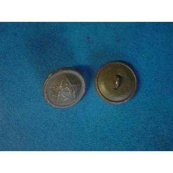 WW2 18 mm late war aluminum field buttons for shoulder straps. Espenlaub militaria