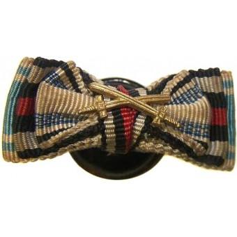 Bavarian WW1 buttonhole ribbon bar for WW1 veteran. Espenlaub militaria