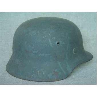 German M35 Wehrmacht single decal steel helmet. Espenlaub militaria