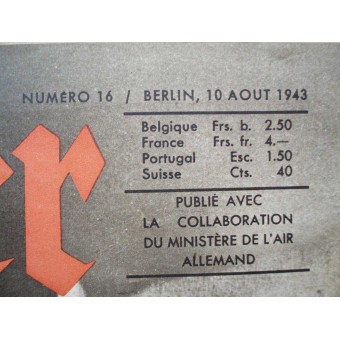 "German ww2 ""Der ADLER"" French language! August, 1943.. Espenlaub militaria"