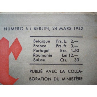 German ww2 Der ADLER French language! March, 1942.. Espenlaub militaria