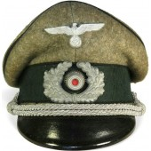 Heer Pioneer officer visor hat, made by Fritz Borkmann