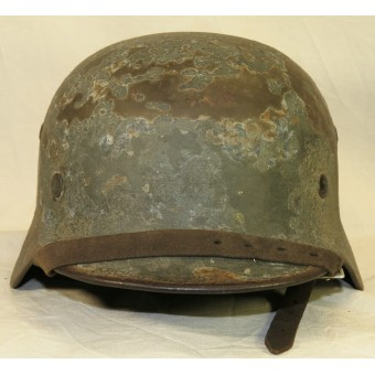 German M35 Wehrmacht single decal steel helmet, personalized. Espenlaub militaria
