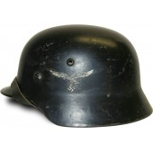 Luftwaffe M 35 / Luftschutz re-issued SD helmet