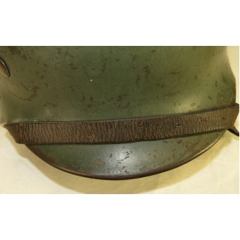 M35 Double decal Wehrmacht helmet, Polizei re-issued. Espenlaub militaria