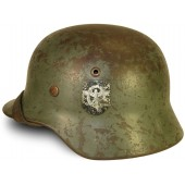 M35 Double decal Wehrmacht helmet, Polizei re-issued