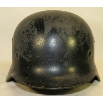 M40 Luftwaffe, re-issued by Luftschutz steel helmet. Espenlaub militaria