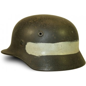 Q 66 MG Kompanie commander steel helmet mid war made.. Espenlaub militaria
