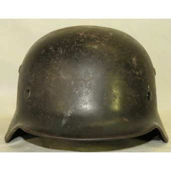 SE 64, Luftwaffe ex double decal M 35 steel helmet. Espenlaub militaria