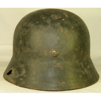 WW2 German double decal M 35 Wehrmacht steel helmet. Espenlaub militaria