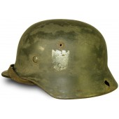 WW2 German double decal M 35 Wehrmacht steel helmet