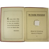 3rd Reich Arbeitsfront Members payments book