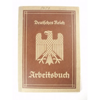 Deutsches Reich 3rd Reich personal ID book for employer. Espenlaub militaria