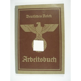 WW2 original 3rd Reich Arbeitsbook-book for employer. Espenlaub militaria