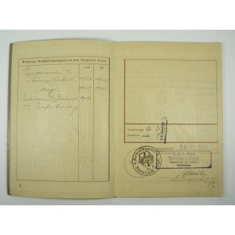 WW2 original 3rd Reich personal ID book for employer. Espenlaub militaria
