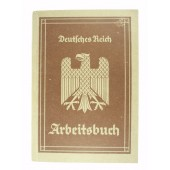 WW2 original 3rd Reich personal ID book for employer