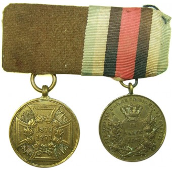 Imperial German medals bar with Prussian  Commemorative Medal for the Franco-Prussian War 1870-1871. Espenlaub militaria