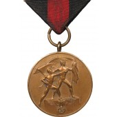 Medal to the remembrance of the annexation of the Sudetenland on October 1, 1938