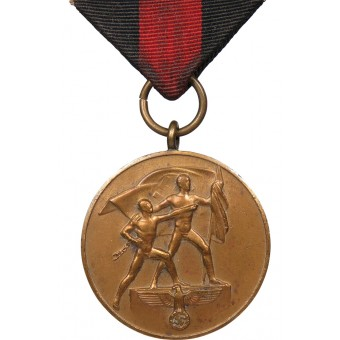 Medal to the remembrance of the annexation of the Sudetenland on October 1, 1938. Espenlaub militaria
