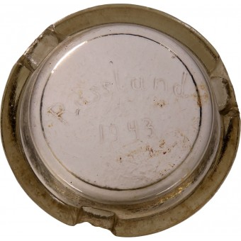 Ashtray Russland 1943, made in memory of the service on the Eastern Front. Espenlaub militaria
