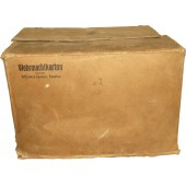 Cardboard package for 10 cans of German tinned bread for the Wehrmacht, June 1943