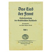 Front song-collection of songs of the Great German radio broadcasting. 3rd edition