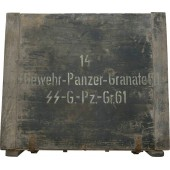SS Ammo box for Gewehr grenades. Rare!!