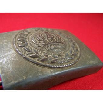 Steel zinc coated war time issue Imperial Prussian buckle. Espenlaub militaria
