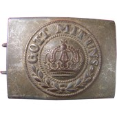 Steel zinc coated war time issue Imperial Prussian buckle