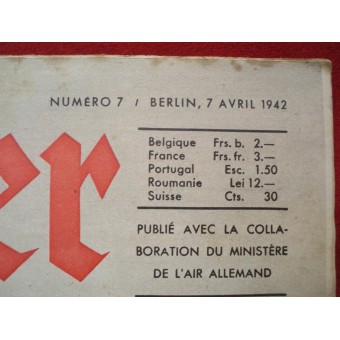 ww2 Der ADLER French language April, 1942.. Espenlaub militaria