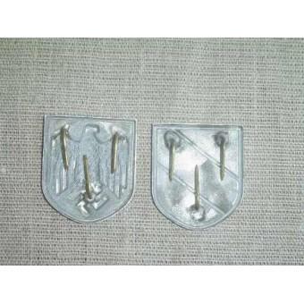 WW2 German Wermacht tropical helmet shields. Espenlaub militaria